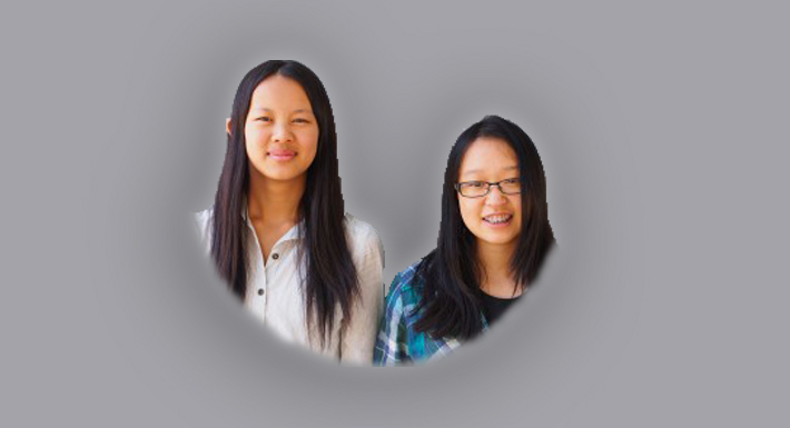 Hyde Park Middle School students Ailun Shi and Lily Yan win Jr.