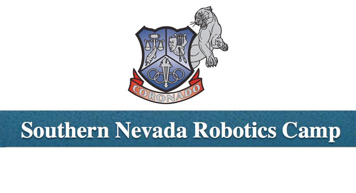 Coronado HS robotics camp logo