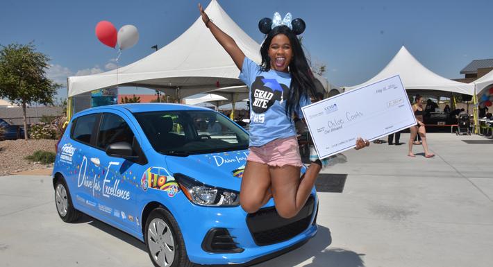 Chloe Cooks wins car