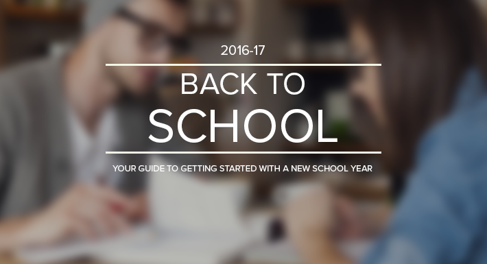 Back to School website graphic