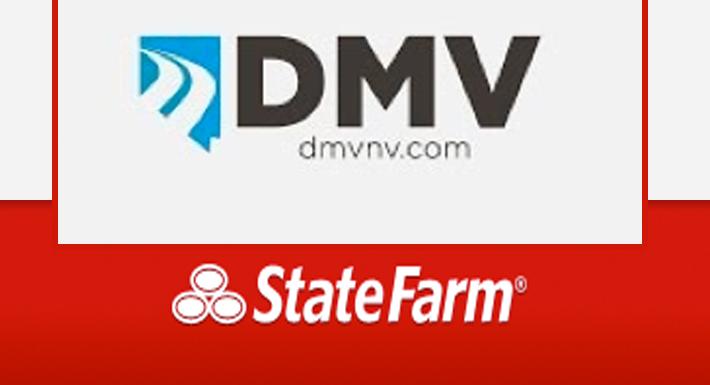 DMV and State Farm logos