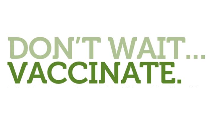 Don't Wait Vaccinate logo