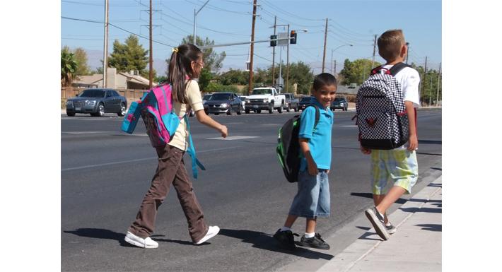 crosswalk with children