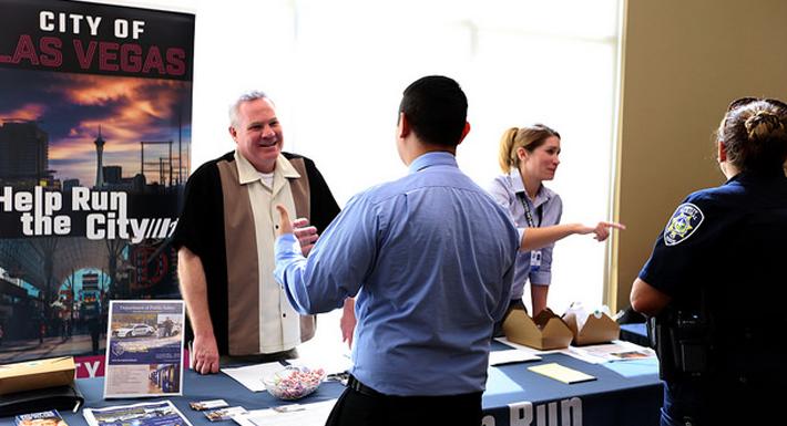 military job fair at Vegas PBS