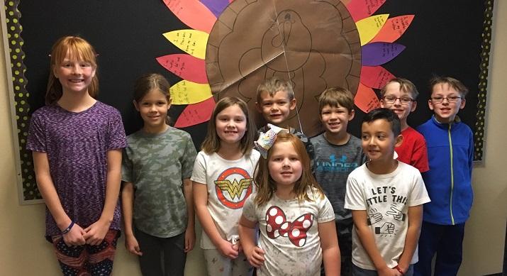 Bartlett ES students - Thanksgiving