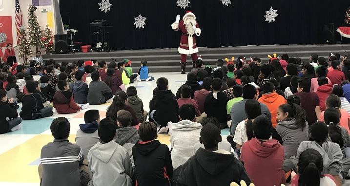 Newsroom Holiday Gifts Presented To Cambeiro Elementary School