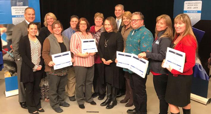 Superintendent's Honor Roll - National Board Certified Teachers 2018-19