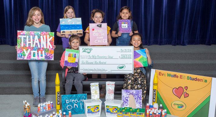 Eva Wolfe ES receives Crayola grant