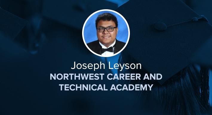 Northwest Career and Technical Academy Star Graduate Joseph Leyson