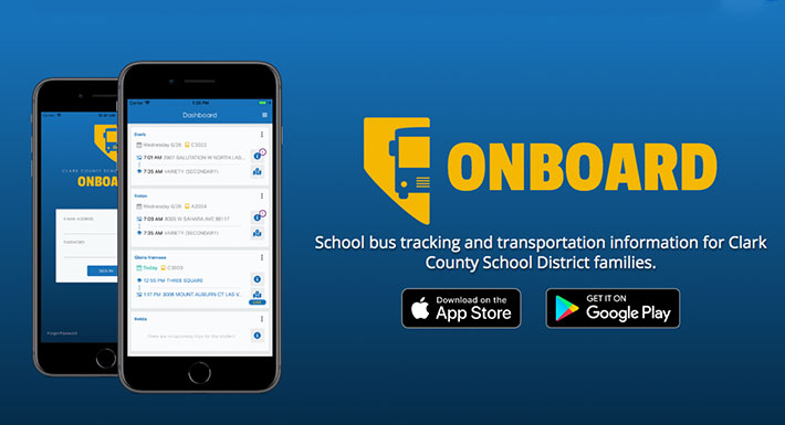 The Clark County School District's Transportation Department has developed a new mobile app, available to students and parents, to help them track buses before and after school.